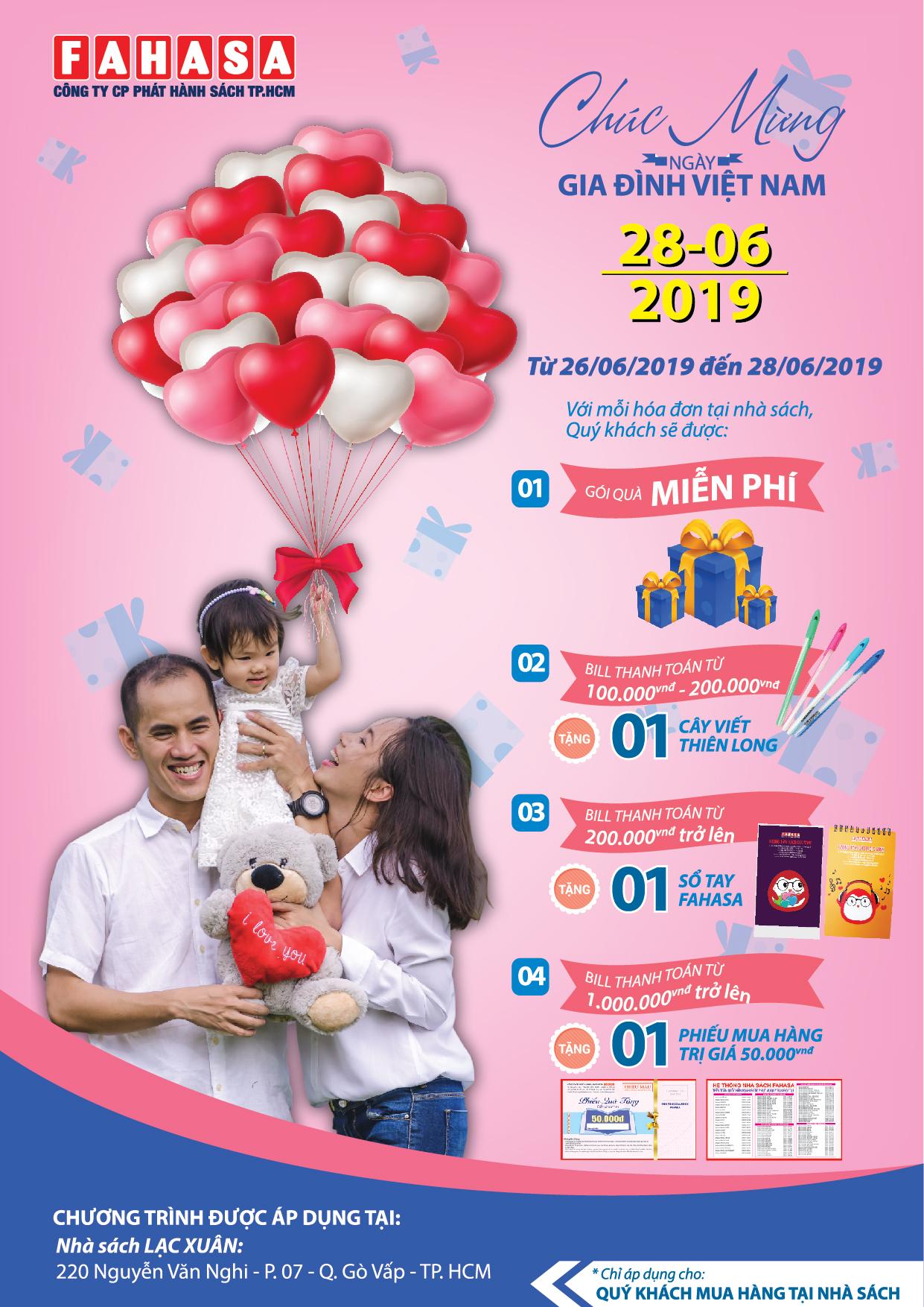 Poster Chuc mung ngay gia dinh viet nam 28-06-2019 - NS Lac Xuan - FA-01